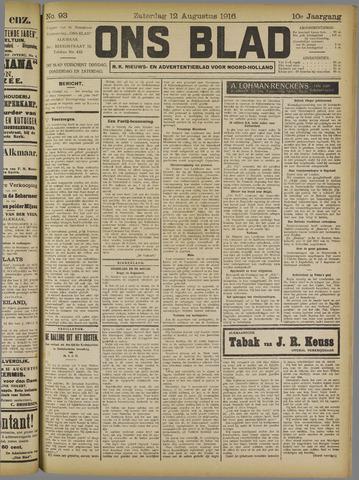 Ons Blad : katholiek nieuwsblad voor N-H 1916-08-12