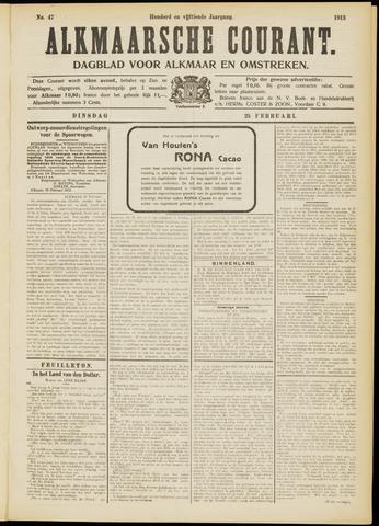 Alkmaarsche Courant 1913-02-25