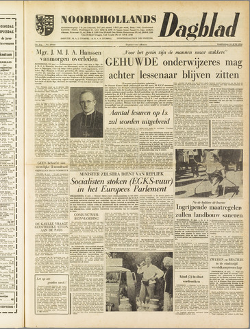 Noordhollands Dagblad : dagblad voor Alkmaar en omgeving 1958-06-25
