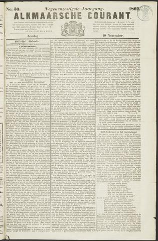 Alkmaarsche Courant 1867-11-10
