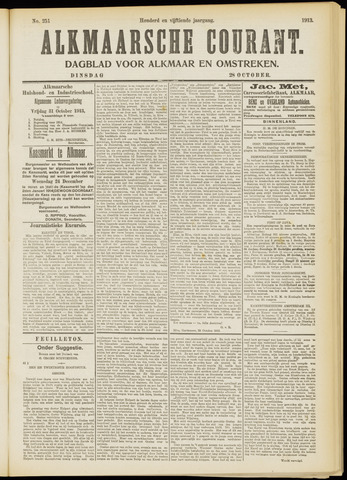 Alkmaarsche Courant 1913-10-28