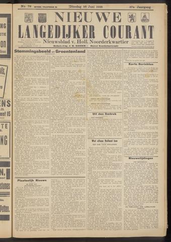 Nieuwe Langedijker Courant 1928-06-26