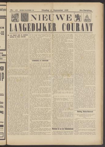 Nieuwe Langedijker Courant 1926-09-21