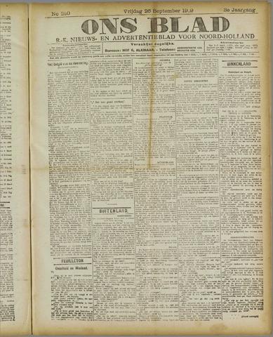 Ons Blad : katholiek nieuwsblad voor N-H 1919-09-26