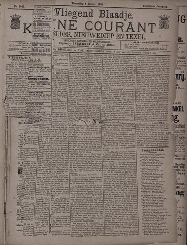 Vliegend blaadje : nieuws- en advertentiebode voor Den Helder 1886-01-06