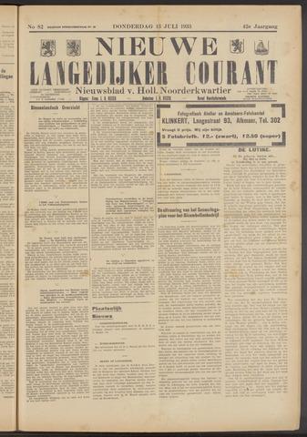 Nieuwe Langedijker Courant 1933-07-13