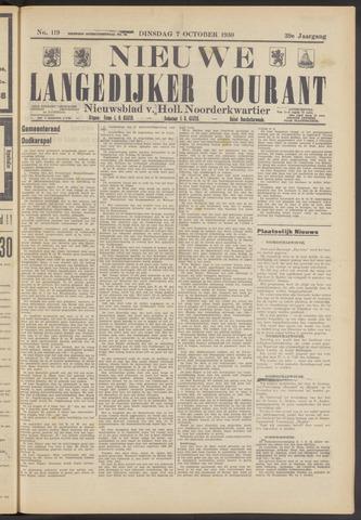 Nieuwe Langedijker Courant 1930-10-07