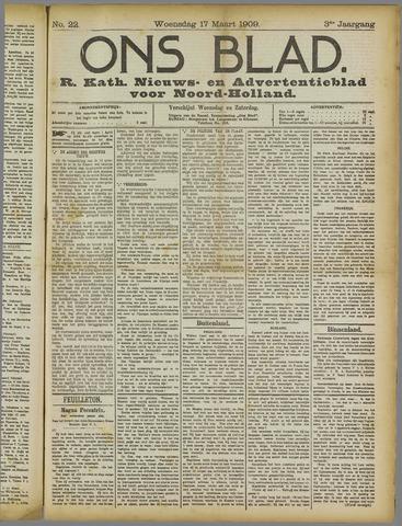 Ons Blad : katholiek nieuwsblad voor N-H 1909-03-17