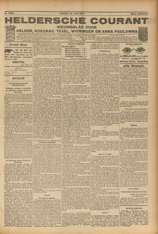 Heldersche Courant 1924-06-24