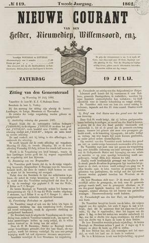 Nieuwe Courant van Den Helder 1862-07-19