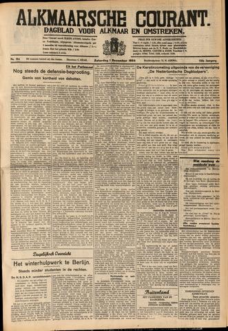 Alkmaarsche Courant 1934-12-01