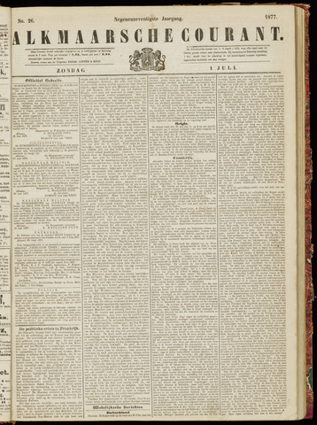 Alkmaarsche Courant 1877-07-01