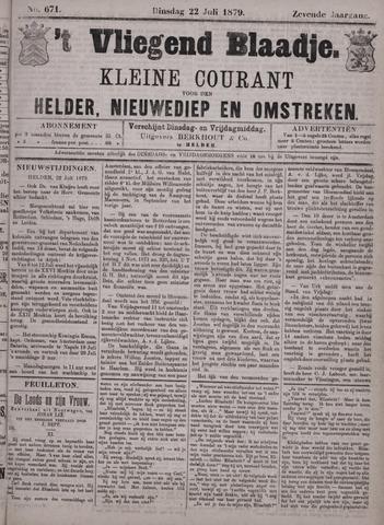 Vliegend blaadje : nieuws- en advertentiebode voor Den Helder 1879-07-22