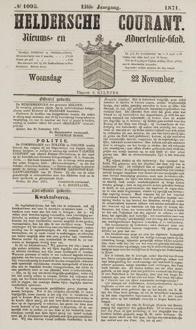 Heldersche Courant 1871-11-22