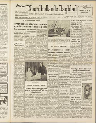 Nieuw Noordhollandsch Dagblad : voor Alkmaar en omgeving 1949-05-10