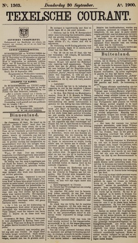 Texelsche Courant 1900-09-30