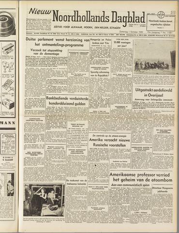 Nieuw Noordhollandsch Dagblad : voor Alkmaar en omgeving 1949-10-01