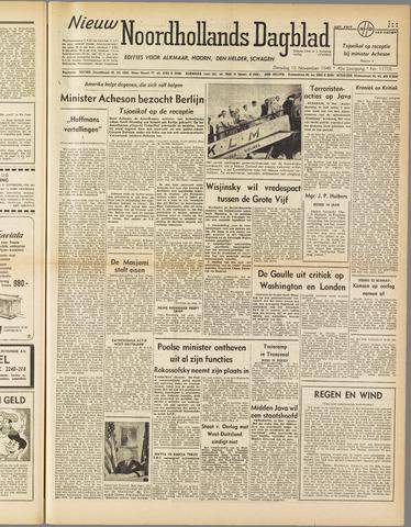 Nieuw Noordhollandsch Dagblad : voor Alkmaar en omgeving 1949-11-15