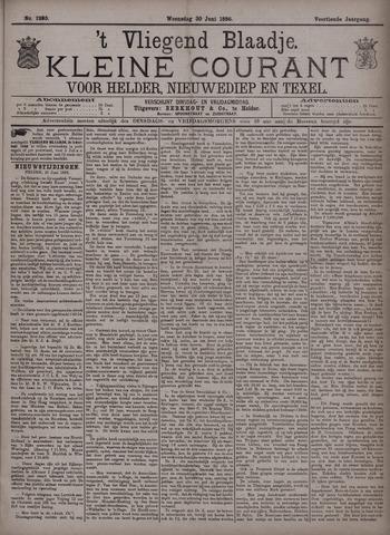 Vliegend blaadje : nieuws- en advertentiebode voor Den Helder 1886-06-30