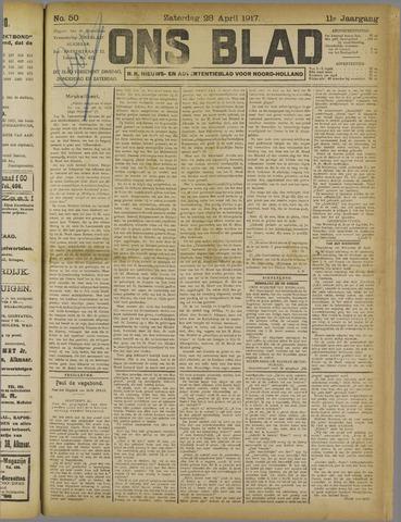 Ons Blad : katholiek nieuwsblad voor N-H 1917-04-28