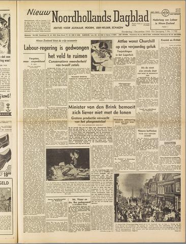 Nieuw Noordhollandsch Dagblad : voor Alkmaar en omgeving 1949-12-01
