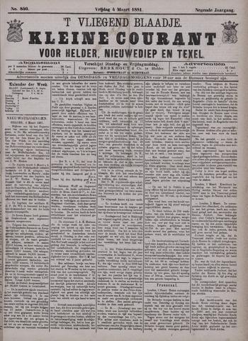 Vliegend blaadje : nieuws- en advertentiebode voor Den Helder 1881-03-04