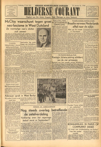 Heldersche Courant 1952-07-17