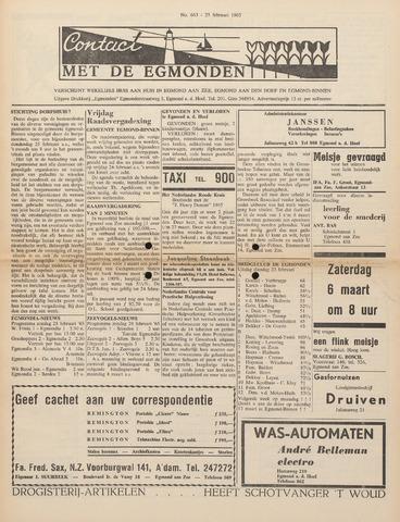Contact met de Egmonden 1965-02-25