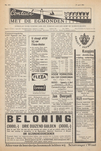Contact met de Egmonden 1961-04-27