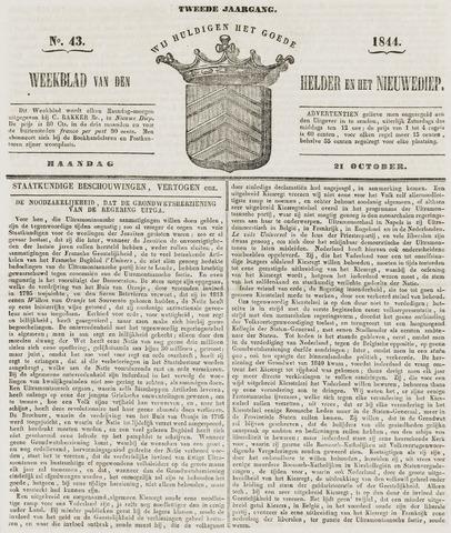 Weekblad van Den Helder en het Nieuwediep 1844-10-21