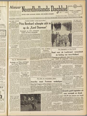 Nieuw Noordhollandsch Dagblad : voor Alkmaar en omgeving 1950-01-03