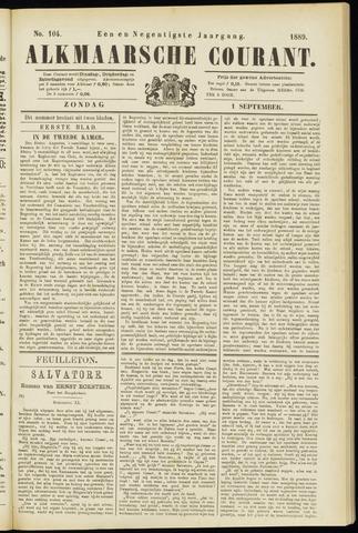 Alkmaarsche Courant 1889-09-01