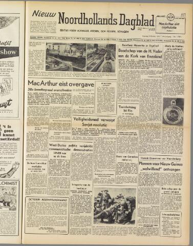 Nieuw Noordhollandsch Dagblad : voor Alkmaar en omgeving 1950-10-02