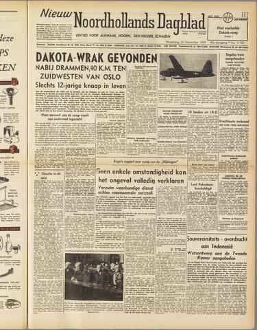 Nieuw Noordhollandsch Dagblad : voor Alkmaar en omgeving 1949-11-23