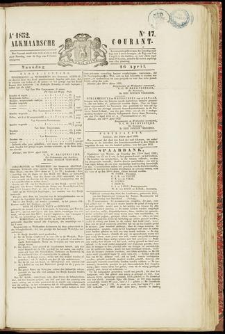 Alkmaarsche Courant 1852-04-26