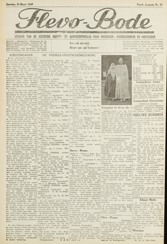 Flevo-bode: nieuwsblad voor Wieringen-Wieringermeer 1949-03-26