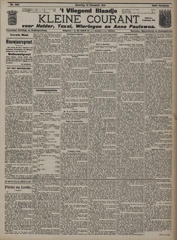 Vliegend blaadje : nieuws- en advertentiebode voor Den Helder 1910-12-10