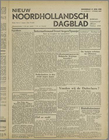 Nieuw Noordhollandsch Dagblad : voor Alkmaar en omgeving 1945-06-21