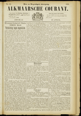 Alkmaarsche Courant 1891-04-12