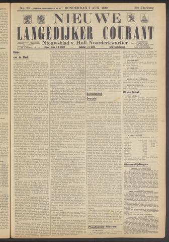 Nieuwe Langedijker Courant 1930-08-07