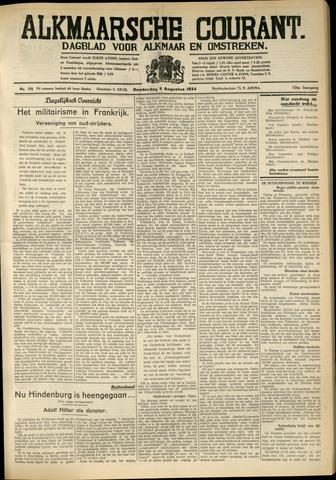 Alkmaarsche Courant 1934-08-09