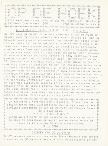 Op De Hoek, weekblad voor Akersloot 1960-11-05