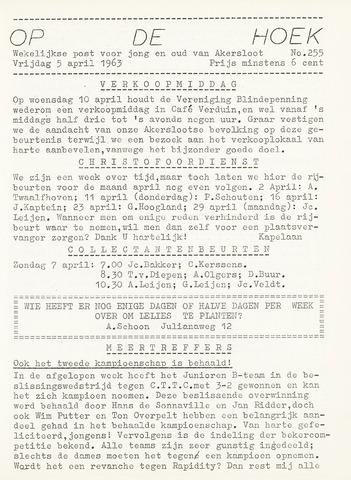 Op De Hoek, weekblad voor Akersloot 1963-04-05
