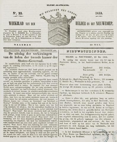 Weekblad van Den Helder en het Nieuwediep 1853-05-30