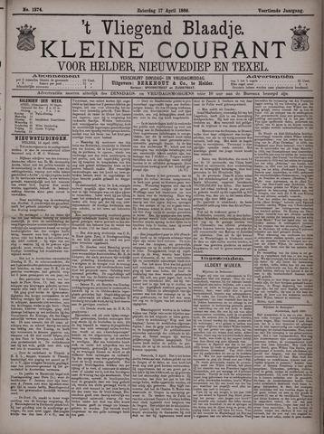 Vliegend blaadje : nieuws- en advertentiebode voor Den Helder 1886-04-17
