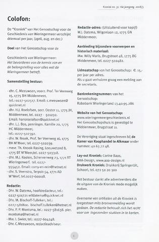 Kroniek Historisch Genootschap Wieringermeer 2008-12-01