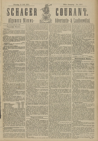 Schager Courant 1911-07-11