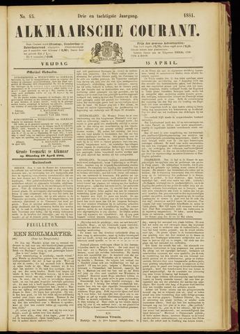 Alkmaarsche Courant 1881-04-15