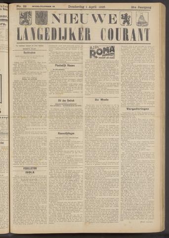 Nieuwe Langedijker Courant 1926-04-01
