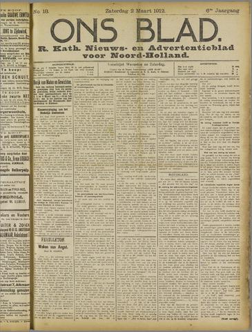 Ons Blad : katholiek nieuwsblad voor N-H 1912-03-02